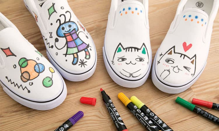 Marker Paint on Shoes