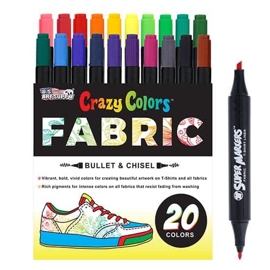 Sure Colour Fabric Marker Pens 15 Fabric Markers