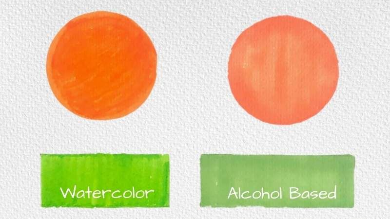 Alcohol vs Watercolor Markers
