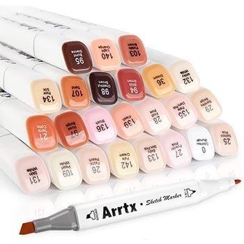 Arrtx Dual Tip Skin Tone Marker Set