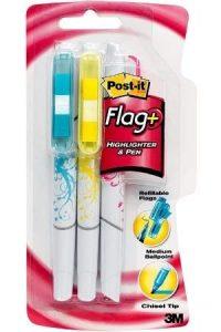 Flag+ Ballpoint Pen with Highlighter