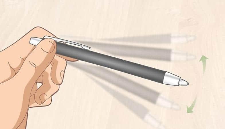 shake the pen