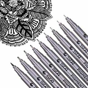 Dyvicl Black Micro-Pen Fineliner Ink Pens