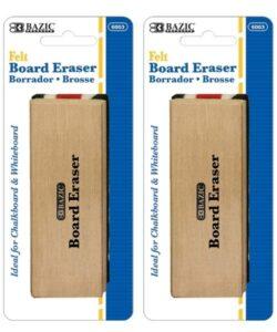 BAZIC Felt Chalkboard Wood Eraser Cleaner