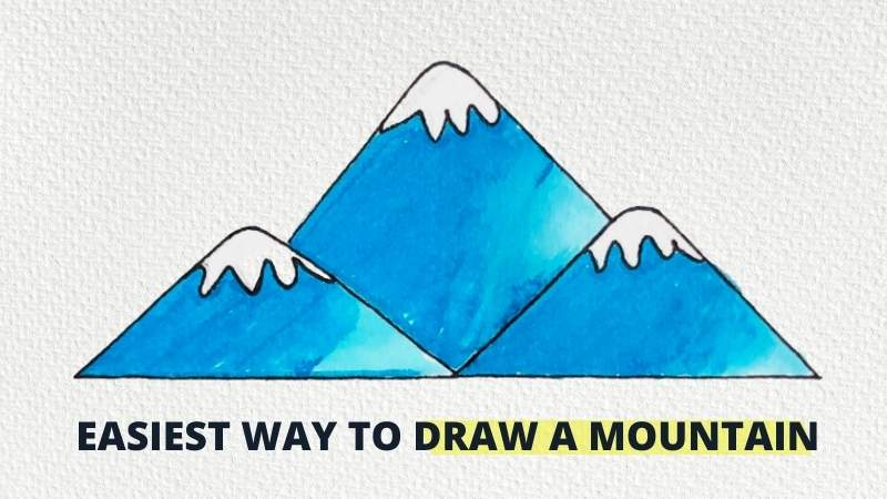 How to Draw Mountains Easy: Step by Step Tutorial