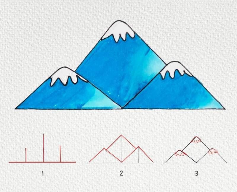 Method 1 Drawing Mountain
