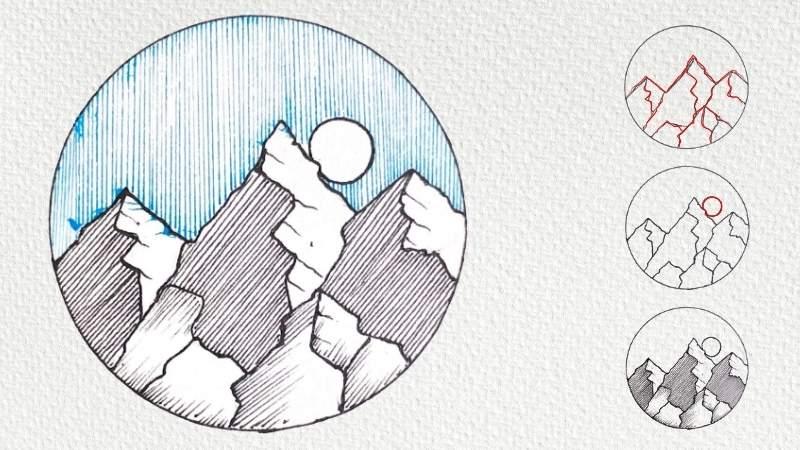 Method 2 Drawing Mountain