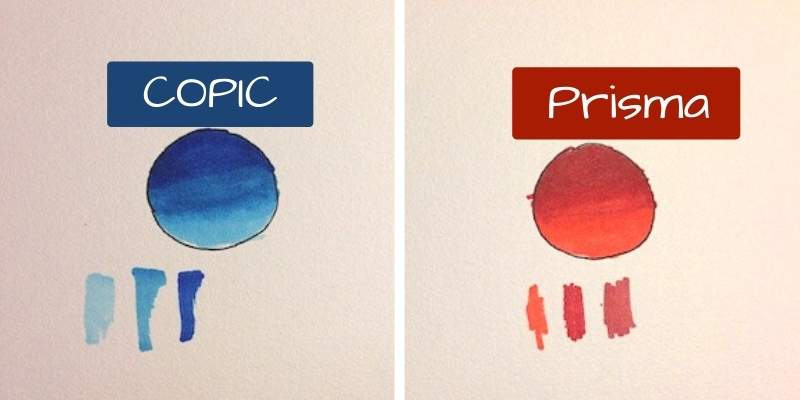 Difference Between Prismacolor and Copic Markers!