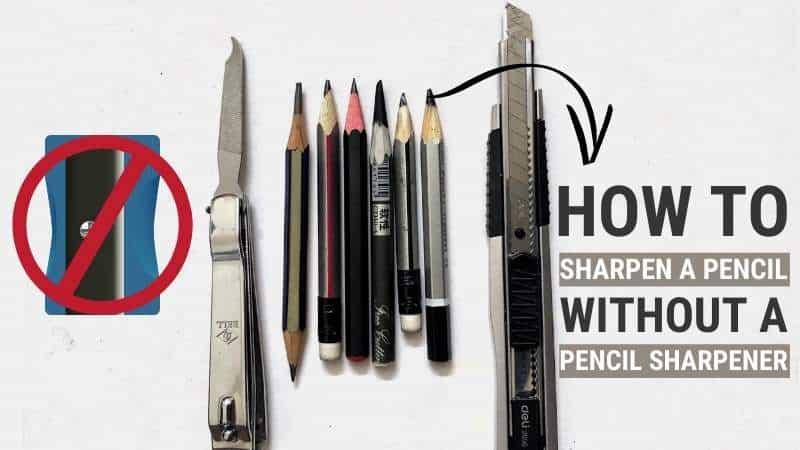 Sharpen a Pencil Without a Pencil Sharpener