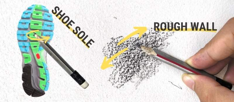 Rough surface for Sharpen Pencil