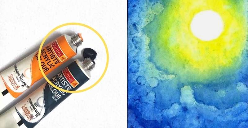 Make Watercolor Paint from Acrylic