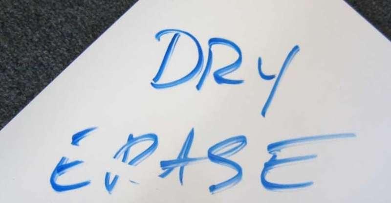 Use Dry Erase Marker on Laminated Paper