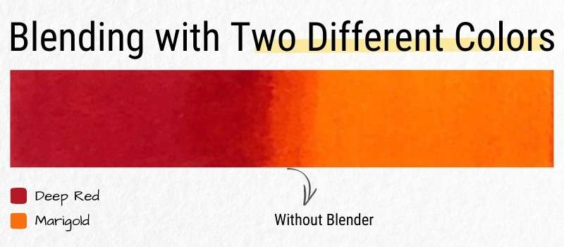 Blending Marker with Two Different Colors