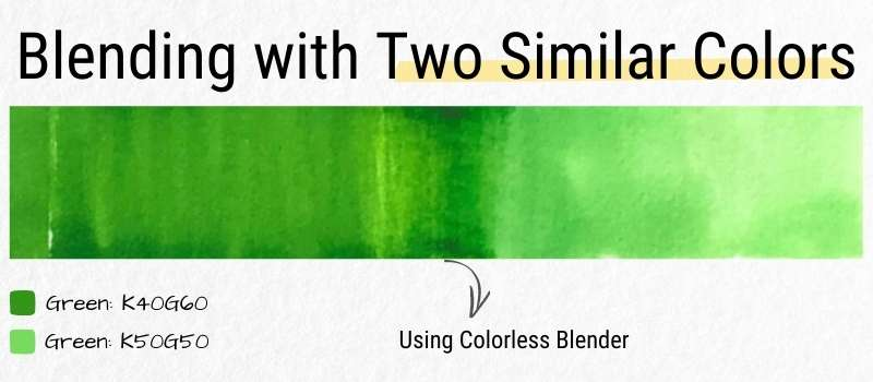 Blending Alcohol Marker with Two Similar Colors