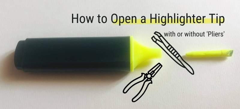 Remove a Highlighter Tip