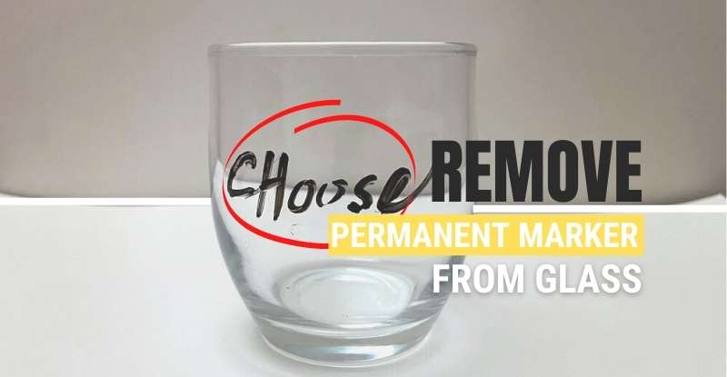 how to get permanent out of glass