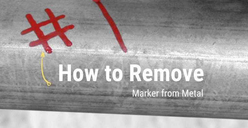 Remove Permanent Marker from Metal