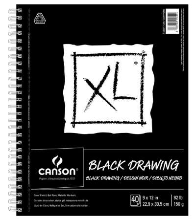 Canson Black Drawing Paper
