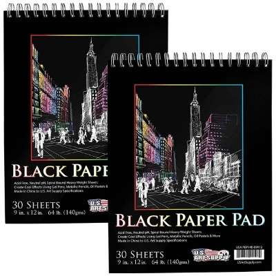Black Paper by US Art Supplies
