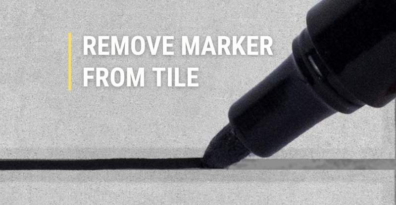 Remove Permanent Marker from Tile