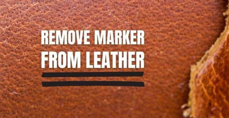Remove Permanent Marker from Leather